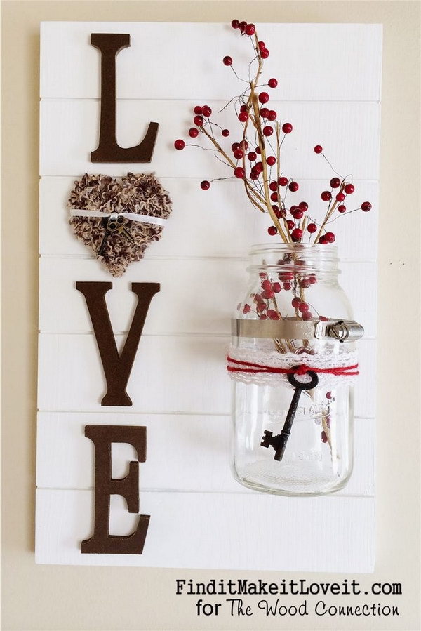 DIY Love Slat Sign