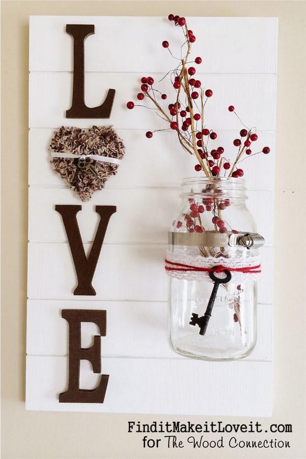 DIY Love Slat Sign