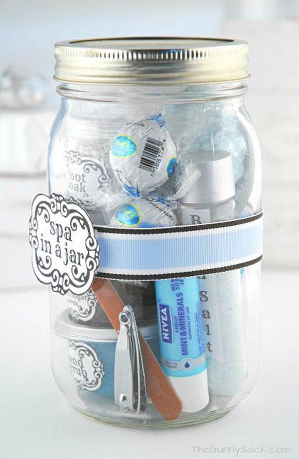 DIY Spa in a Jar Valentine's Day Gift