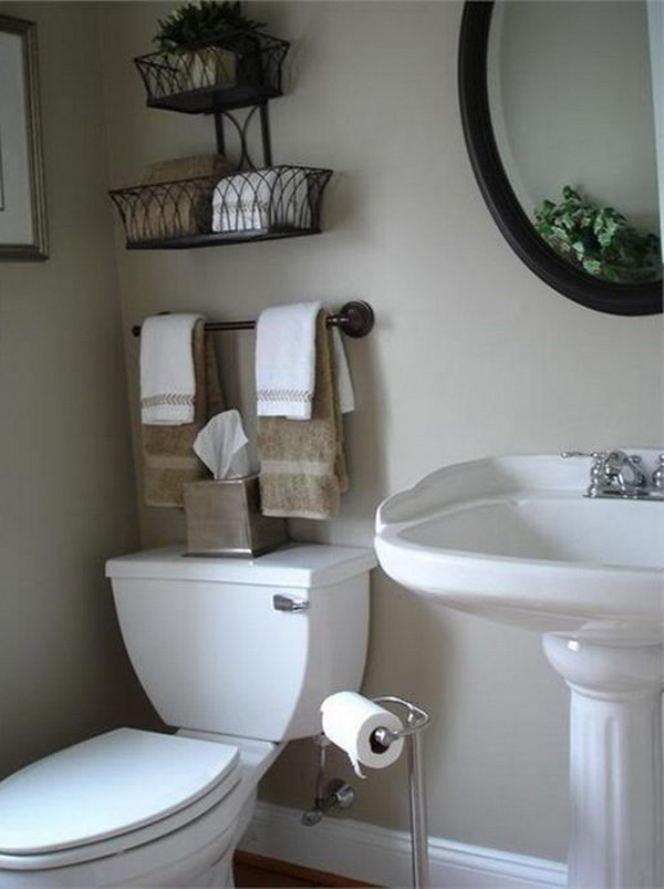Decorative Garden Planter and Storage Over The Toilet.