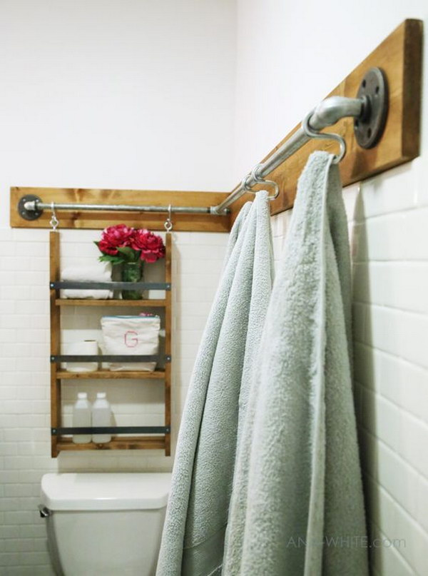 Industrial Style Storage Using Pipes And S Rings