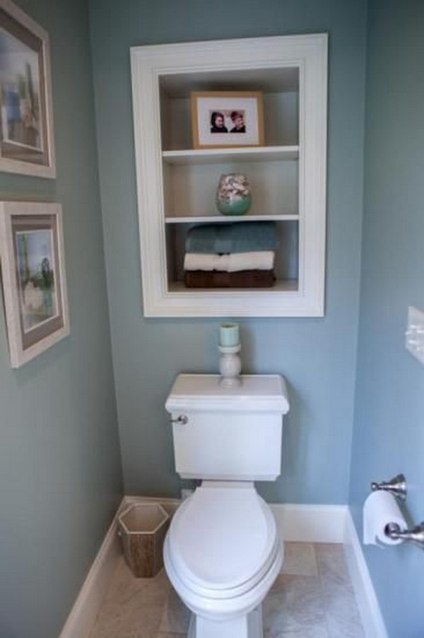 40 practical over the toilet storage ideas 2017 Over the toilet design ideas