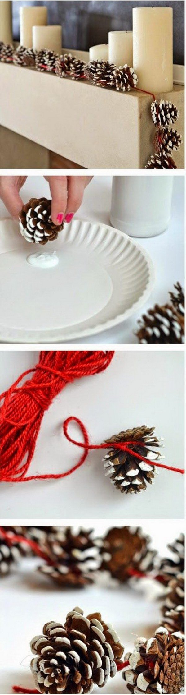 DIY Pinecone Garlands.