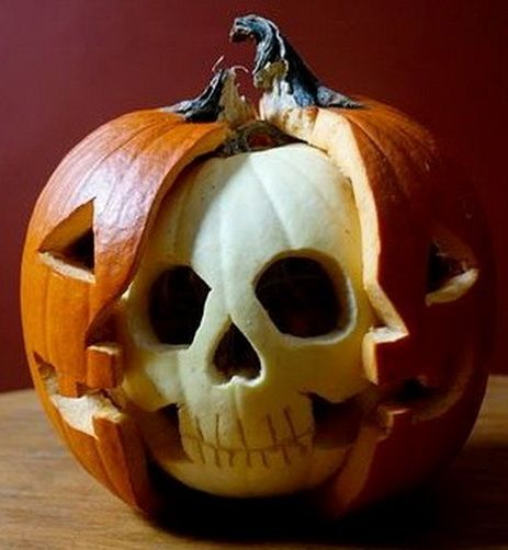 Skeleton Pumpkin Carving.