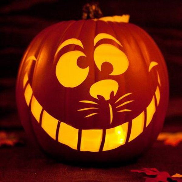 Cheshire Cat Pumpkin.