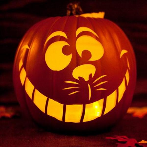 Cheshire Cat Pumpkin.