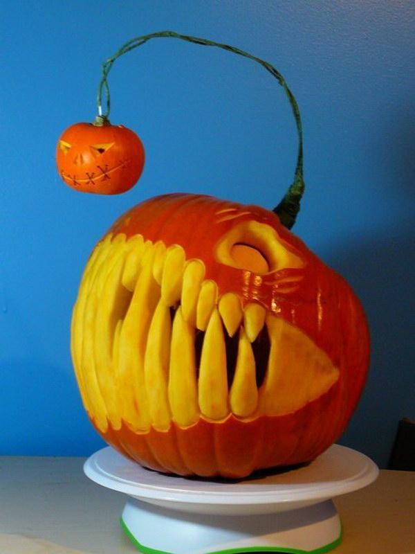 Amazing Angler Fish Pumpkin.