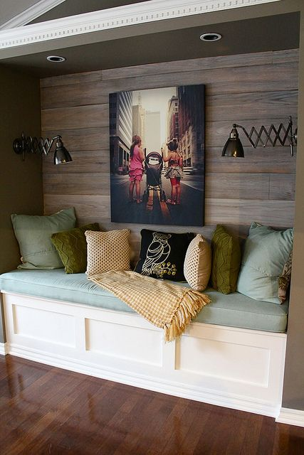 Reading Nook With a Wood Treatment.
