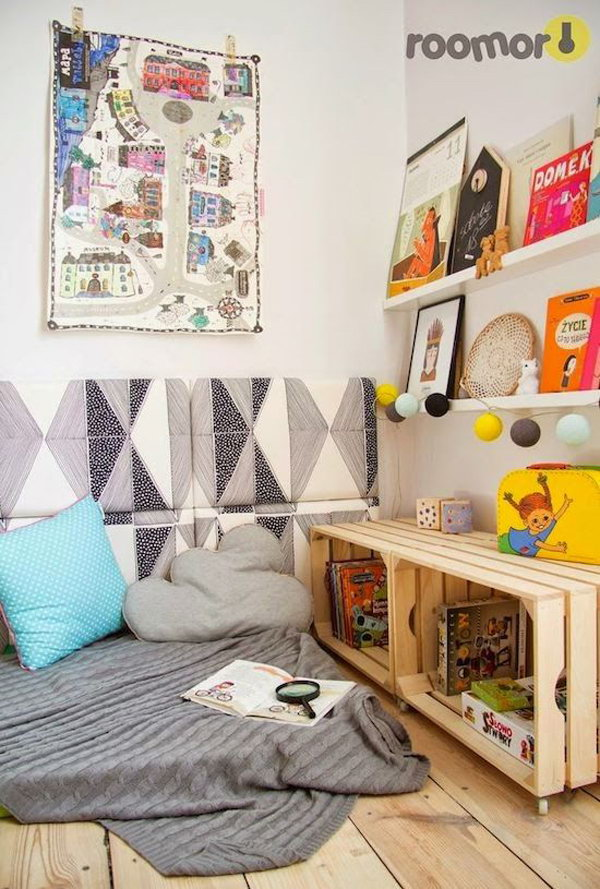 DIY Crate Book Storage For Reading Corner