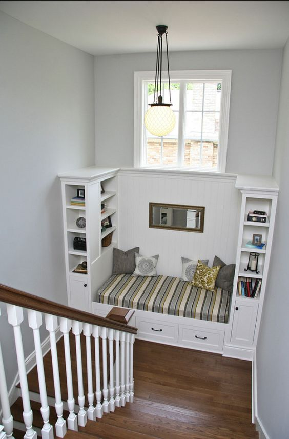Reading Area On Stairway Landing.