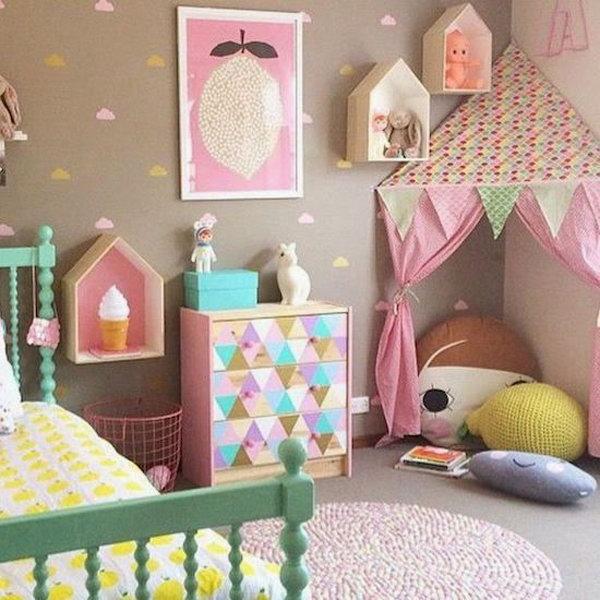 Pink Girl Reading Corner