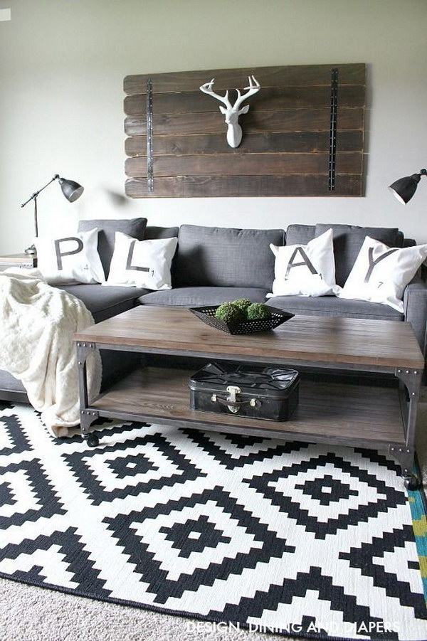 Modern Living Room In Rustic Style