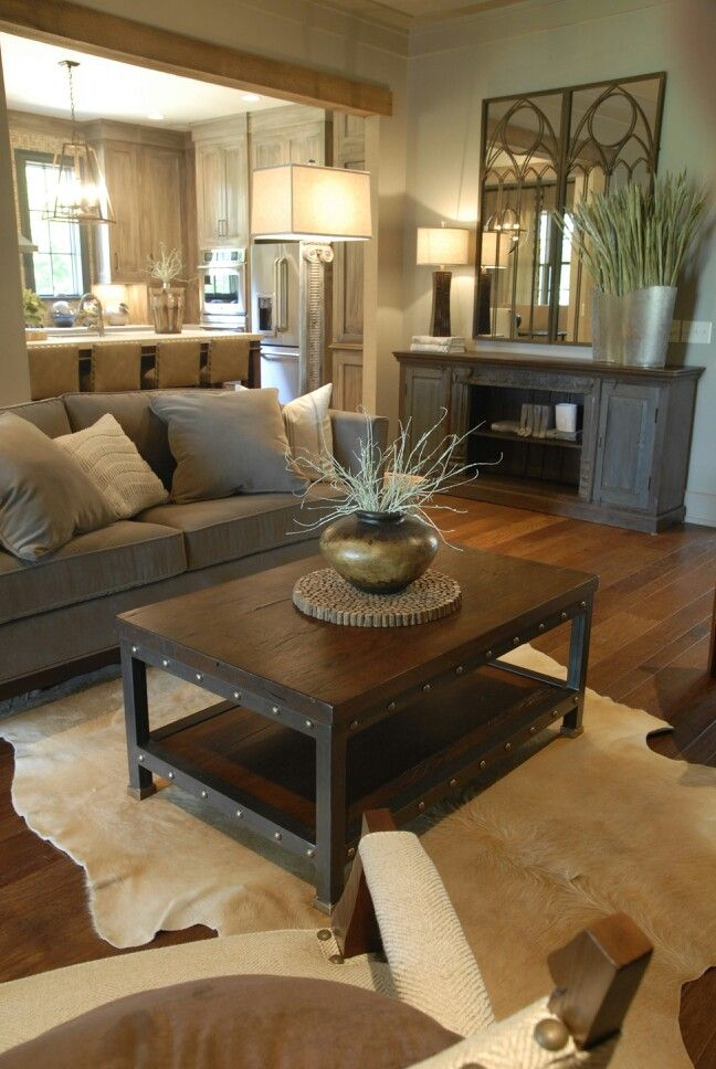 Modern Rustic Living Room Design.