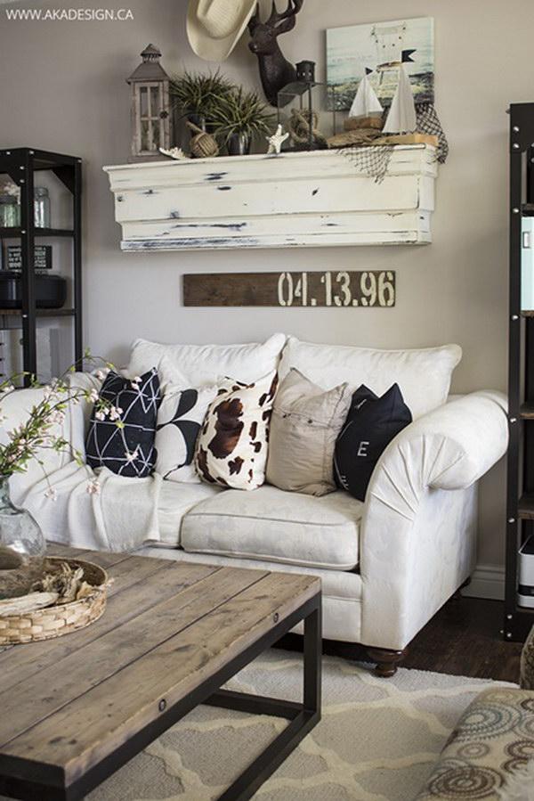 Beach Inspired Living Room Decoration.