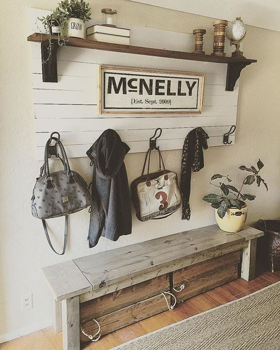 Rustic Entry Way In Living Room.