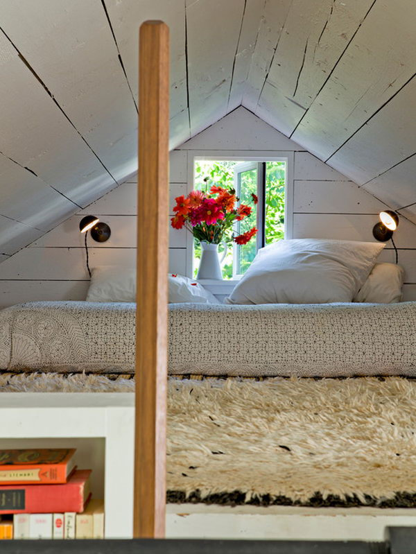 Secret Reading Nook on Top of Shelf