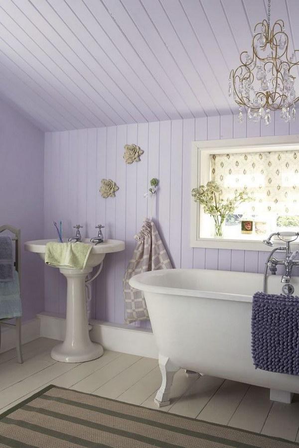 Romantic Lavender Shabby Chic Bathroom