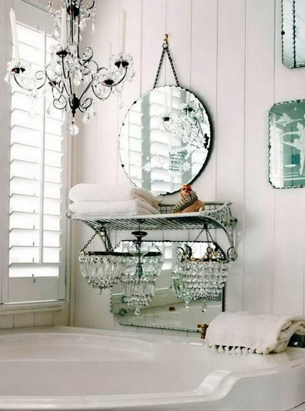 Vintage Chic White Bathroom Decor