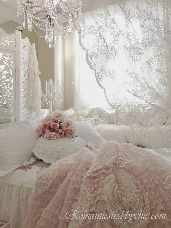 Romantic Shabby Chic Bedroom.
