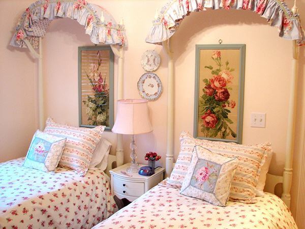 Shabby Chic Colored Patterns Pillows.