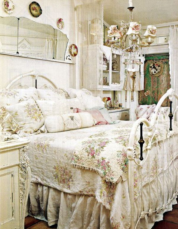 40 shabby chic bedroom ideas that every girl will love - Shabby chic bedroom ideas ...