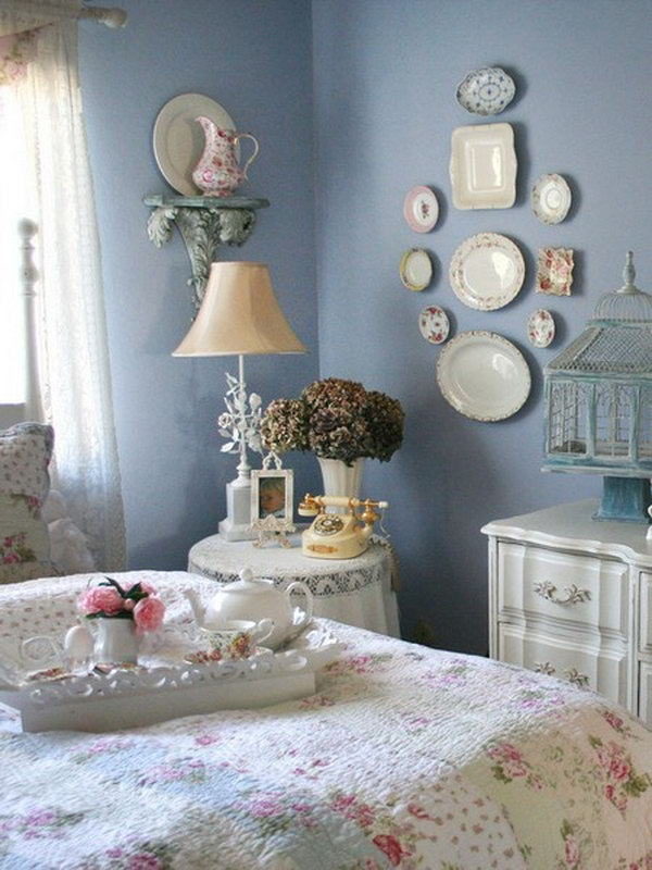 Shabby  Chic Bedroom Wall Decor.