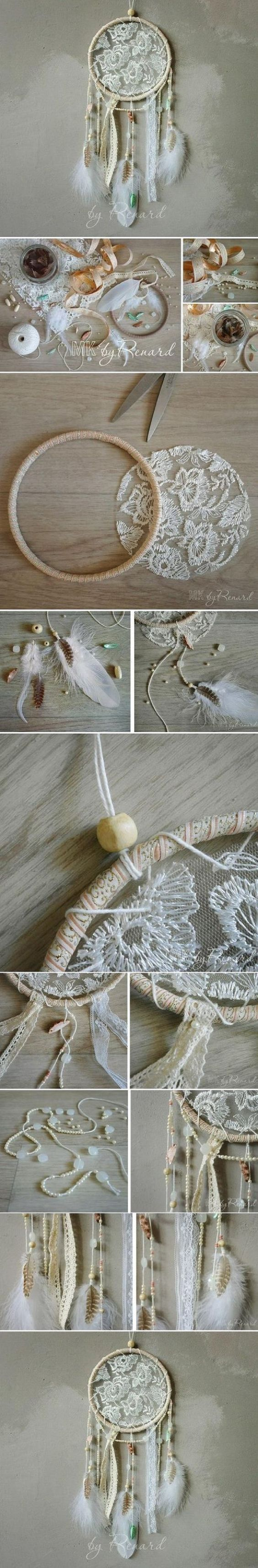 Shabby Chic Dream Catcher.