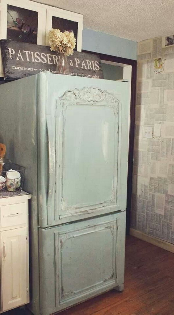 Shabby Chic Aqua Robin's Wood Shutter Wall Decor.
