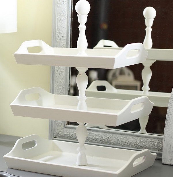 Stacked Trays Made Out of Goodwill Trays.
