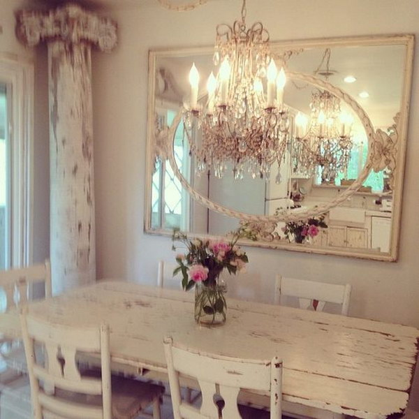 50 Shabby Chic Dining Room Ideas That Every Girl Will
