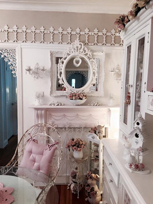 50 shabby chic dining room ideas that every girl will. Black Bedroom Furniture Sets. Home Design Ideas