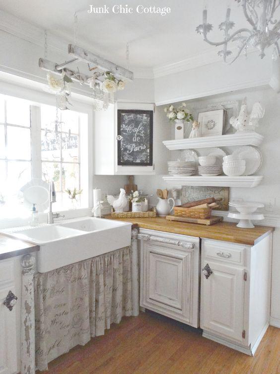Inspiring Shabby Chic Kitchen Cupboard