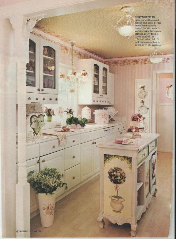 Vintage Shabby Chic Kitchen Decoration.