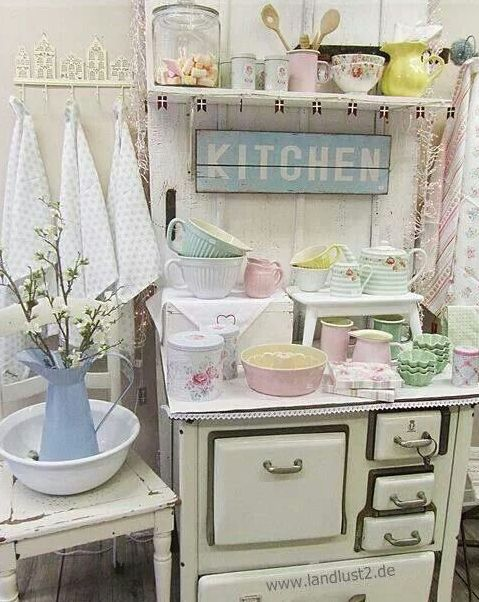 Dishes And Tableware In Pastel Shades.