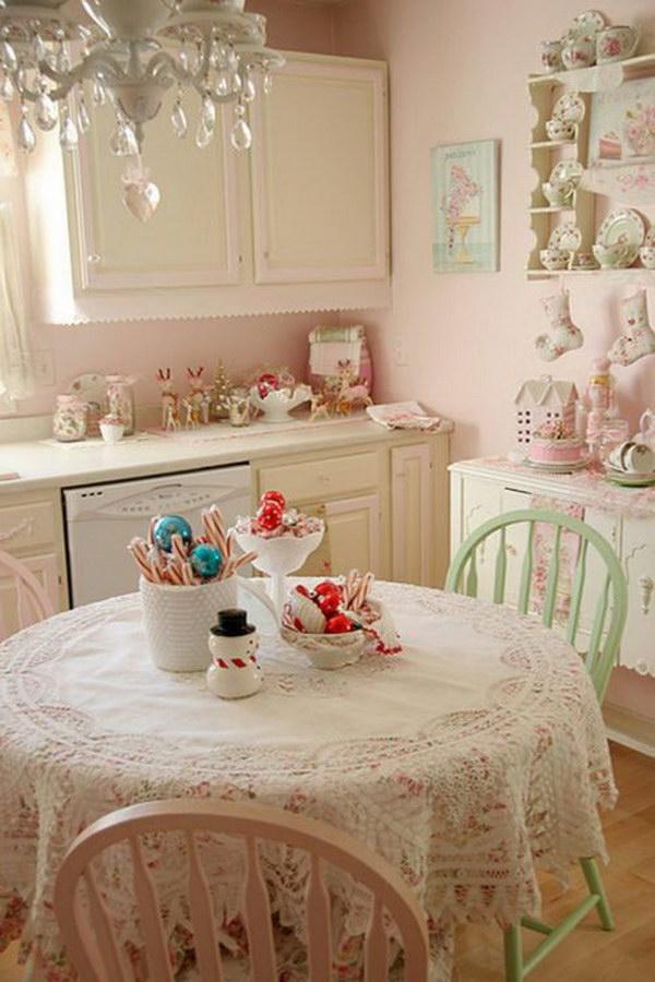 Beautiful Pink Kitchen