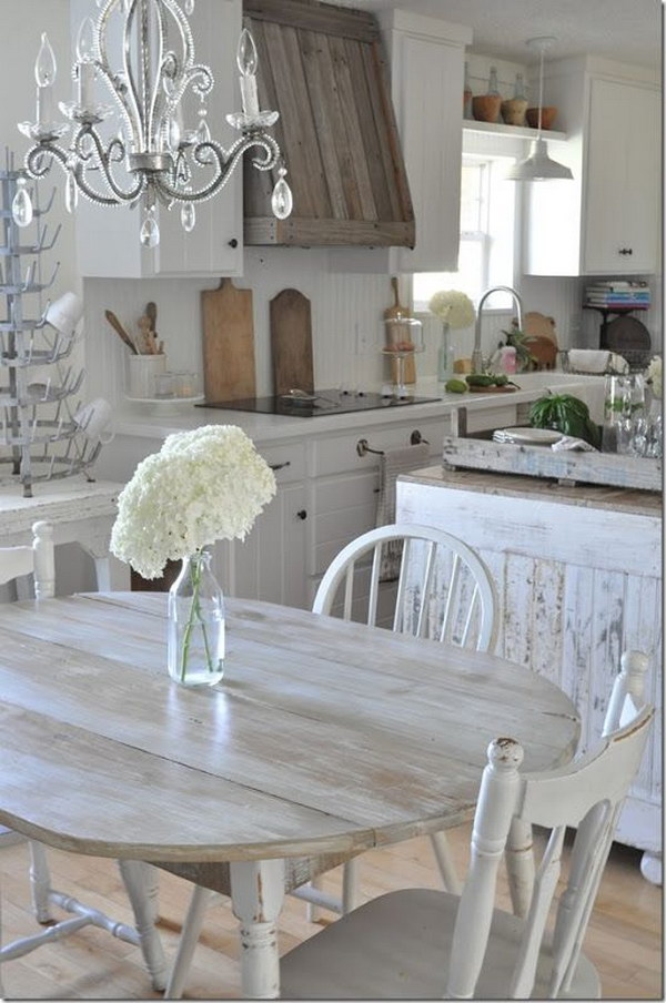 Antique Shabby Chic Kitchen Design.