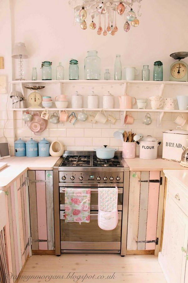 Large Shabby Chic Kitchen Island