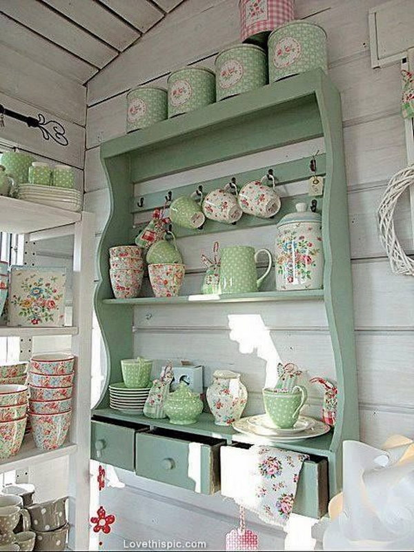 50 sweet shabby chic kitchen ideas 2018 - Decoracion vintage cocina ...
