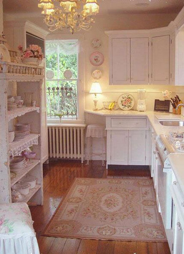 Sweet Pink Shabby Chic Kitchen