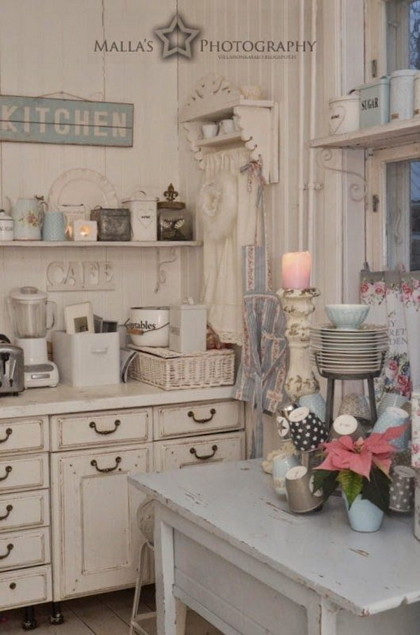 shabby chic kitchen ideas 50 sweet shabby chic kitchen ideas 2017 21641