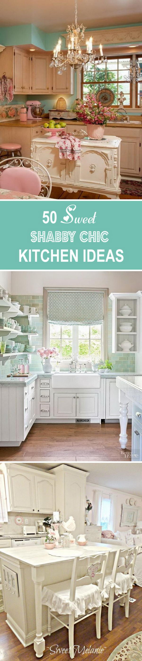 50 Sweet Shabby Chic Kitchen Ideas.