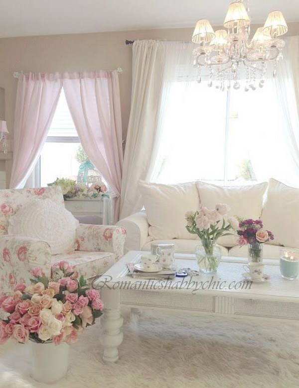55 romantic shabby chic living room ideas 2017 for 55 small living room ideas