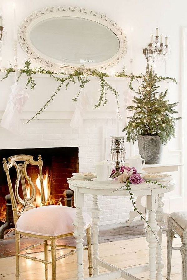 Shabby Chic Fireplace Decor