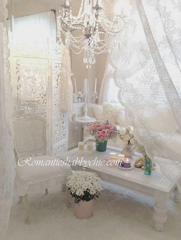 Romantic Feminine Living Room Decor.