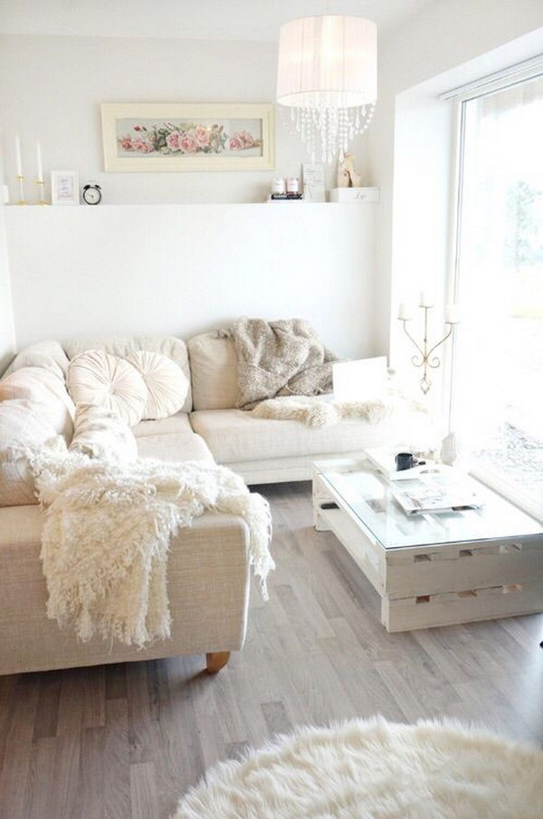 Cozy Shabby Chic Living Room
