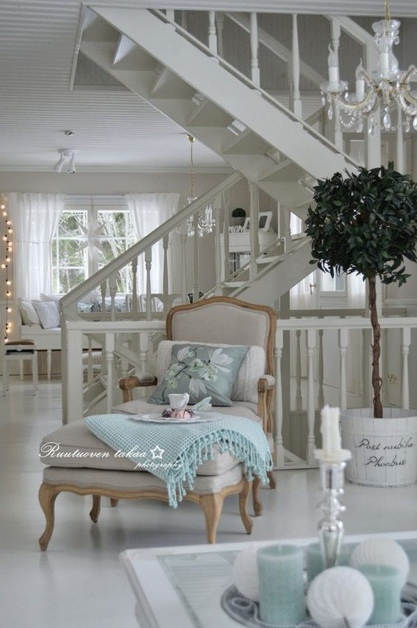 Chic Living Room: 55 Romantic Shabby Chic Living Room Ideas 2018