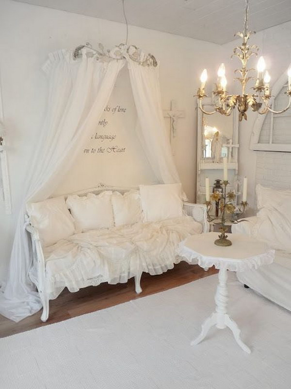 Pure White Shabby Chic Living Room