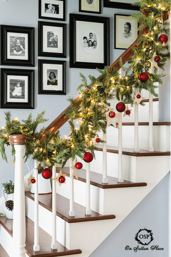 Stairway Banister Decorations.