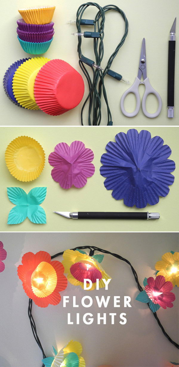 Cup Cake Flower Lights.