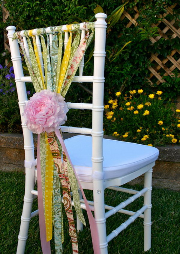 Shabby Chic Chair Decoration.